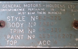 The car's ID plate