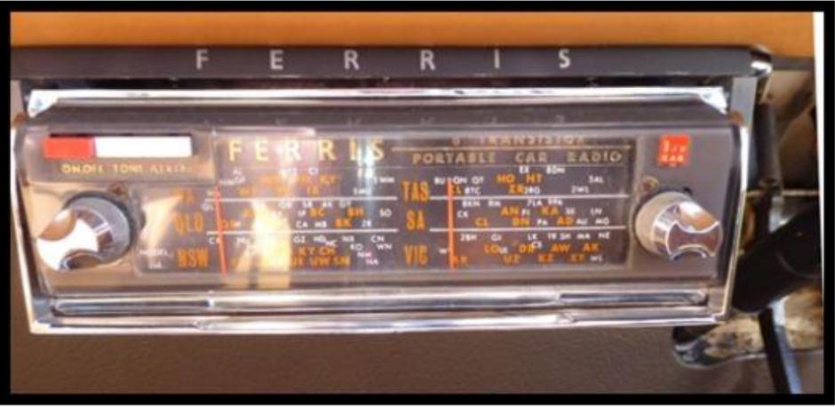 1962 Ferris car radio