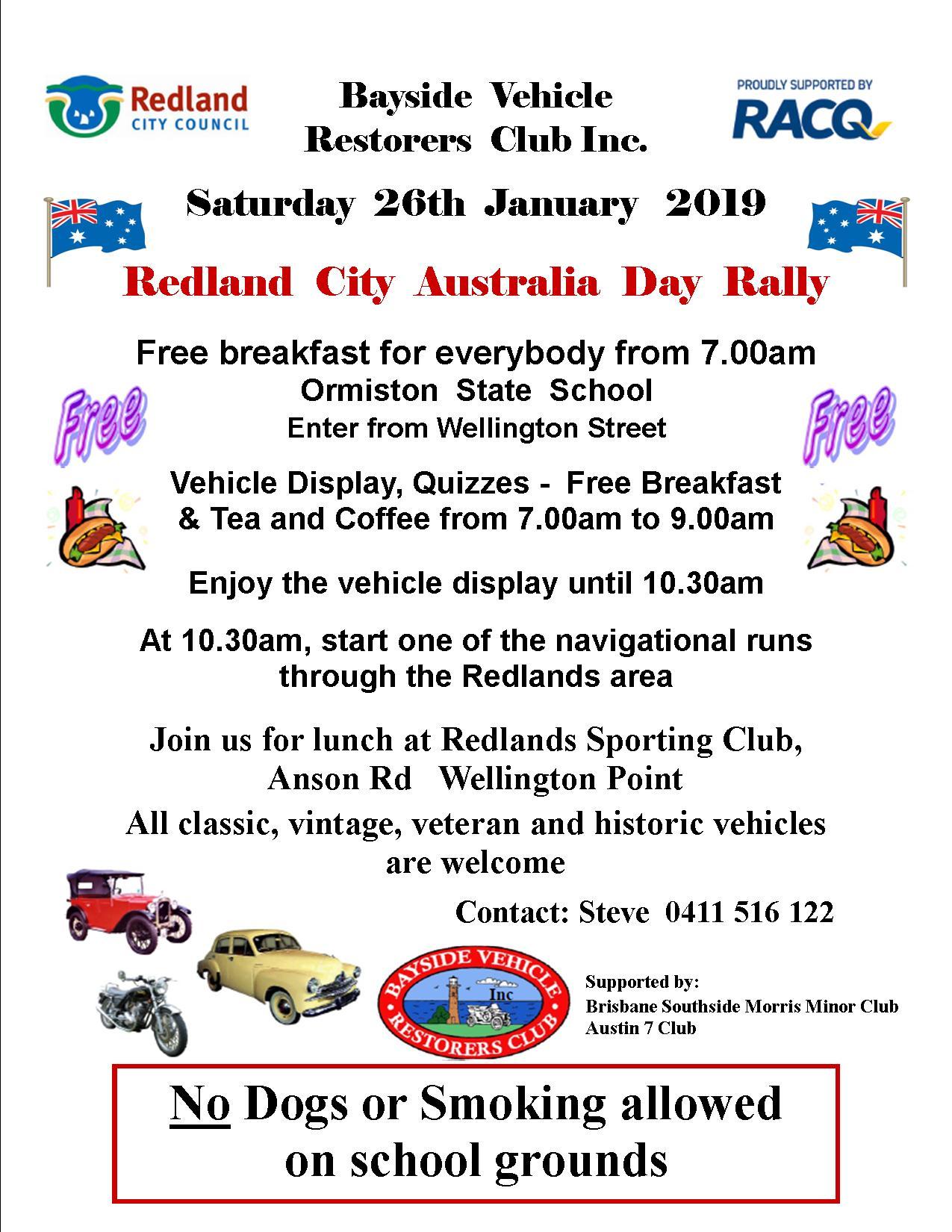 BVRC Australia Day flyer 2019