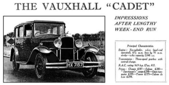 1931 VX Vauxhall Cadet